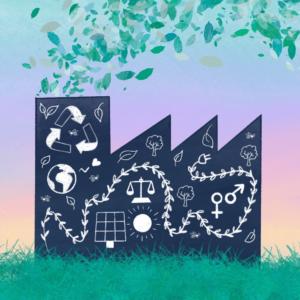 illustration presse blog entreprise engagée pour l'environnement