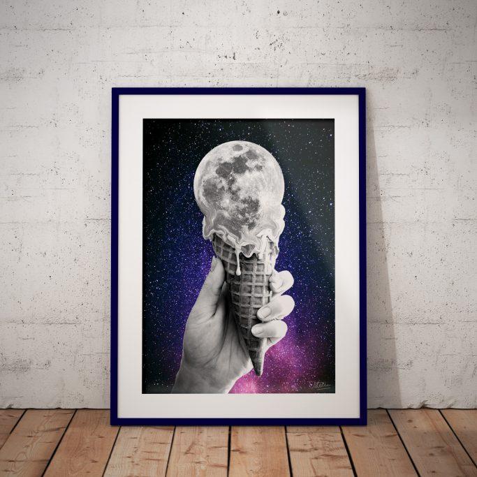 Affiche Glace à la Lune